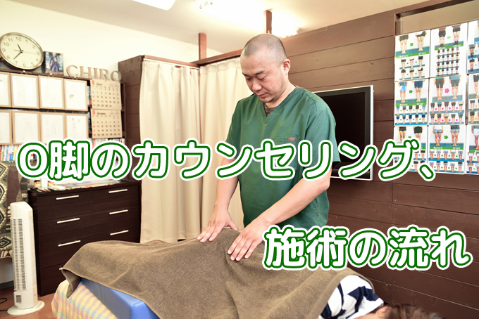 O脚矯正のカウンセリング、施術の流れ
